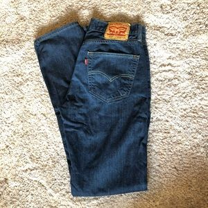 Men's Levi's dark wash straight jeans